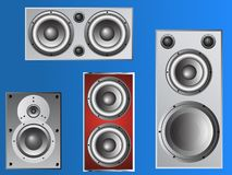 4 Loudspeakers 4 Stock Images