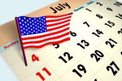 4 luglio Fotografia Stock Libera da Diritti