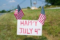4 luglio felice Immagine Stock