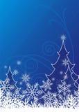 4 lyckliga jul vektor illustrationer