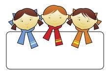 4 lyckliga ungar vektor illustrationer