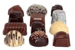 4 lyxiga choklader arkivbilder