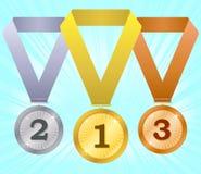 4 médailles illustration stock