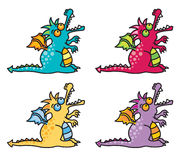 4 magic dragons II Royalty Free Stock Photos