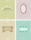 4 mallar av hälsningskort Royaltyfria Bilder