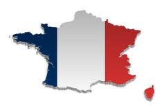 4 mapa France Zdjęcia Royalty Free