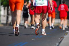 4 maratonlöpare Royaltyfria Bilder