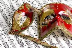 4 maskowa muzyki Fotografia Royalty Free