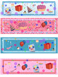 4 matching birthday/party labels Royalty Free Stock Image