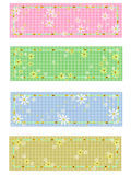 4 matching daisy labels Royalty Free Stock Images