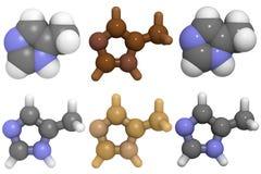 4 mei methylimidazole molekuła Zdjęcie Royalty Free