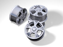4 metallic rims Royalty Free Stock Photo