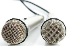 4 mikrofonu dwa Zdjęcia Stock