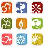 4 mod ikon retro wektora Obrazy Stock
