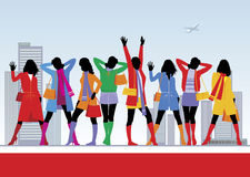 4 mod kobieta Royalty Ilustracja