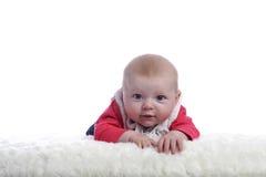 4 mois de chéri regardant l'appareil-photo Image libre de droits