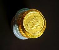 4 monety Zdjęcie Royalty Free