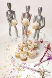 4 muffinattrapper Royaltyfri Bild