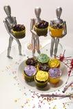 4 muffinattrapper Arkivfoton