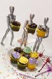 4 muffinattrapper Royaltyfri Foto