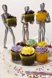 4 muffinattrapper Arkivfoto