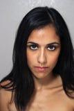 4 multiracial kvinnabarn för härlig headshot Royaltyfri Bild