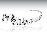 4 musikaliska anmärkningar Royaltyfri Fotografi