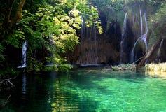 4 nationalparkplitvicevattenfall Arkivbilder