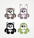 4 nette Tiere Lizenzfreie Stockbilder