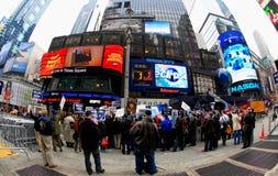 4 nov., 2008 - het Vierkant van The Times in NYC Stock Foto's