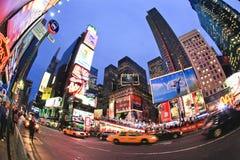 4. November 2008 - das Times Square in NYC Stockfotografie