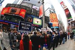 4 novembre 2008 - il Times Square in NYC Immagine Stock Libera da Diritti