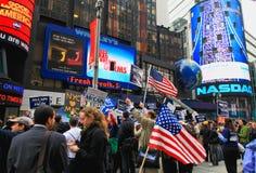 4 novembre 2008 - il Times Square in NYC Fotografia Stock