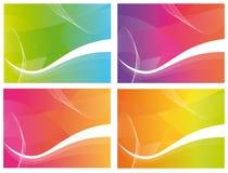 4 ondes de couleur Photographie stock