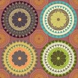 4 ornamento em várias cores Fotografia de Stock Royalty Free