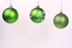 4 ornements verts Photographie stock libre de droits