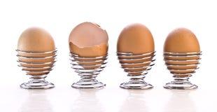 4 ovos em uns copos Fotos de Stock