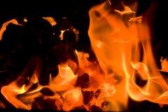 4 płonącego embers Obrazy Royalty Free