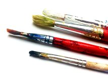 4 Paint Brushes Royalty Free Stock Photos