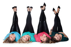 4 pair of legs up Royalty Free Stock Photo