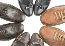4 pairs of shoes Stock Images