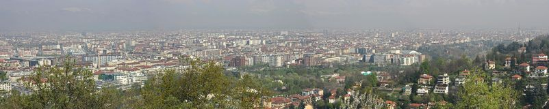 4 panorama Turin Images libres de droits