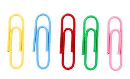 4 paperclips Obrazy Stock