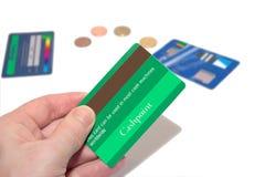 4 par la carte de crédit verts faux Photographie stock libre de droits