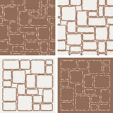 4 patterns with stones Royalty Free Stock Photos