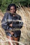 4 piękna trawy piękny wysoka kobieta Fotografia Royalty Free