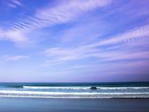 4 piasków morza niebo Zdjęcia Royalty Free