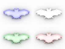 4 pictogrammen van het kleurenglas vector illustratie
