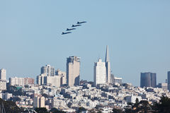 4 Planes San Francisco Fleet Week Airshow Royalty Free Stock Photos