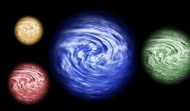 4 planeten royalty-vrije illustratie